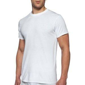 Gildan White T-Shirt XL 46 48 Crew New Tee S/S